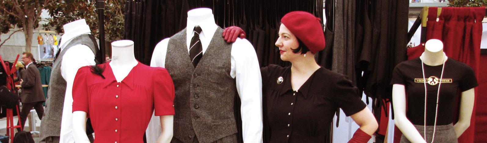 Designer's Open Vintagemädchen Retro