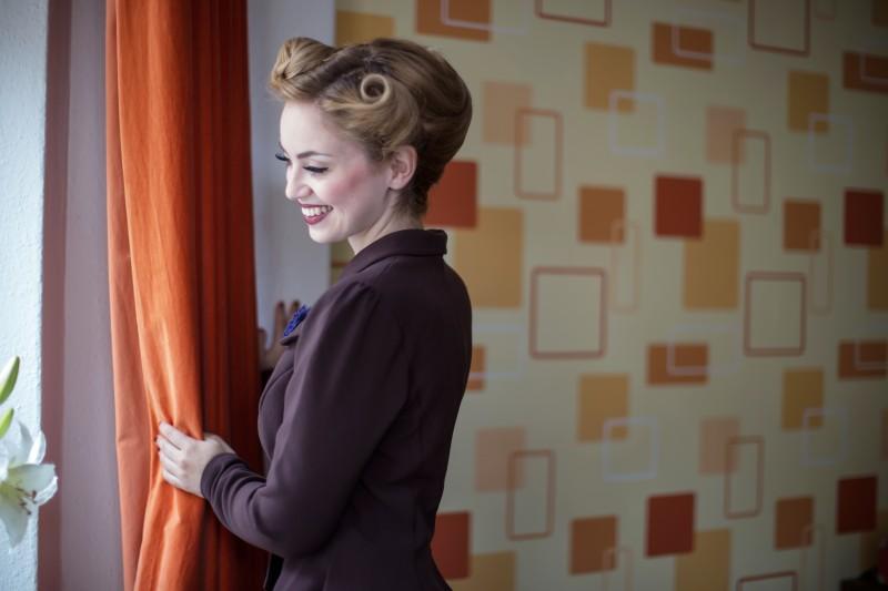 Vintage Model 40er 50er Vintagemädchen