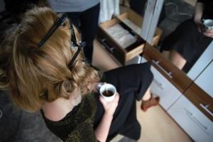 20er Jahre Makeup Vorbereitung