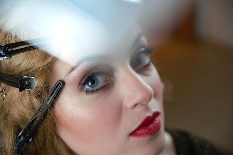 20er Jahre Make Up Brauen