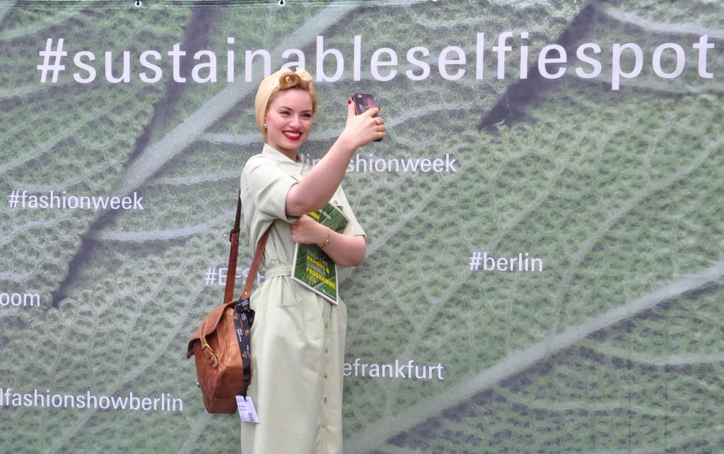 Grüne Mode Selfie Spot