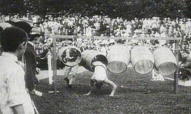 Sportgeschichte Tonnenspringen