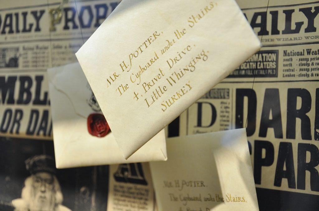 Harry Potter Ausstellung Letter