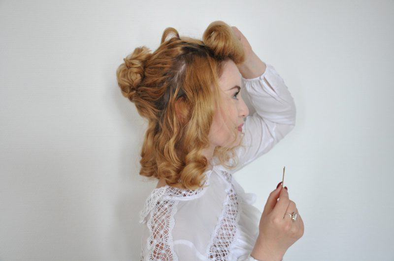 Edwardian Hair Tutorial - Edwardianische Frisur (6)