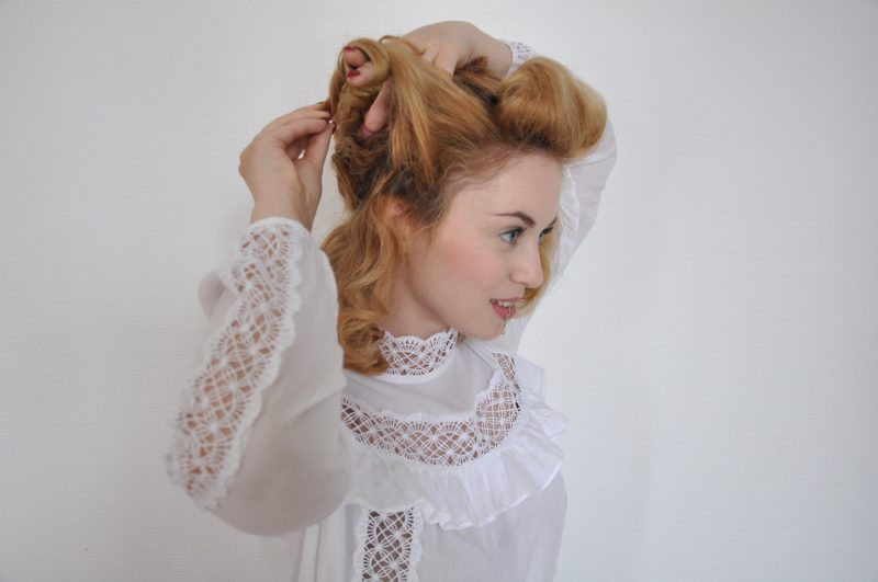 Edwardian Hairstyle Tutorial - Edwardianische Frisur (13)