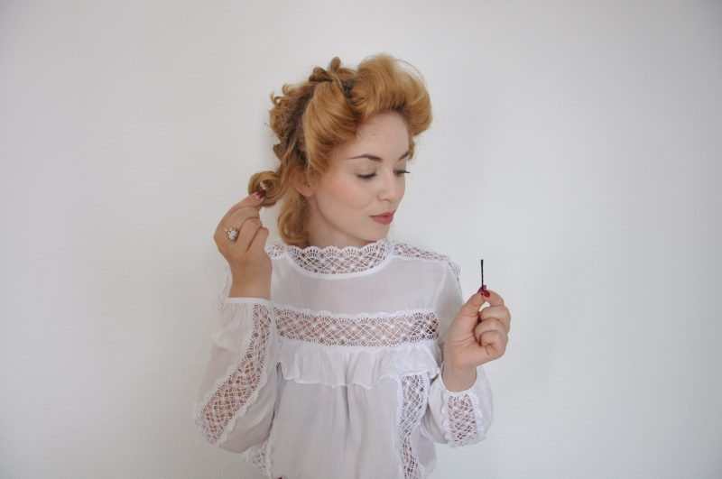 Edwardian Hairstyle Tutorial - Edwardianische Frisur (14)