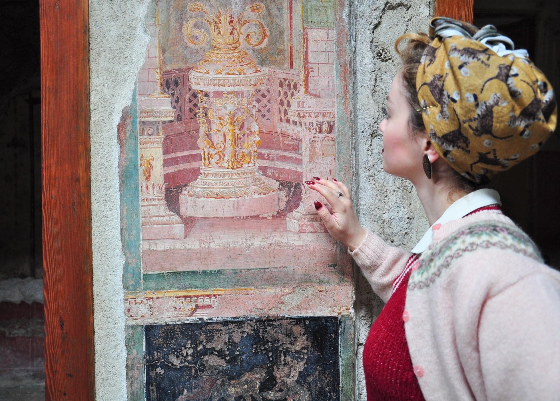 Wall Fresco Pompeii visit Napoli - Neapel Tipps (68)