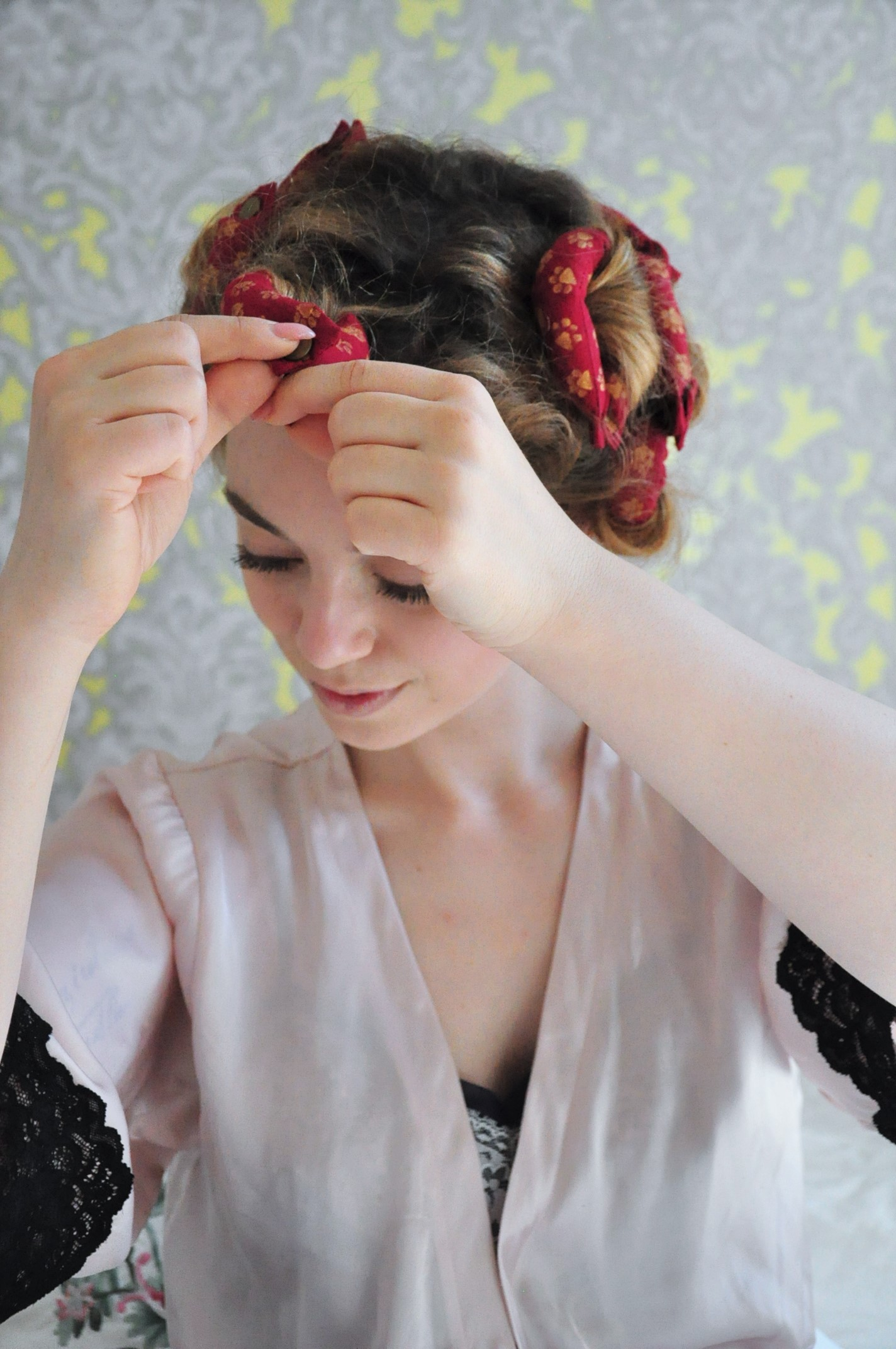 Preparation curly 1940s hair 40er Jahre Frisur Tutorial